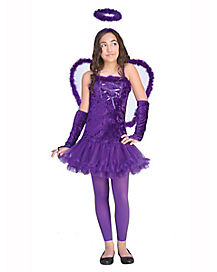 Kids Purple Angel Costume