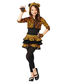 Kids Hooded Tigress Costume
