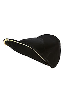 Gold Trimmed Pirate Hat