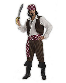 Adult Shipwrecked Pirate Plus Size Costume