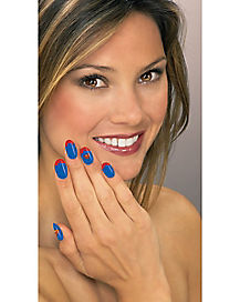 Supergirl Nail Art - Superman