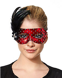 Red Mesh Mask