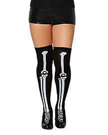 Skeleton Knee Socks