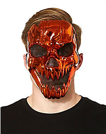 Metallic Pumpkin Mask