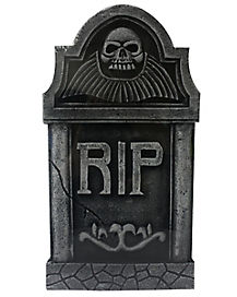 16 Inch RIP Skull Tombstone Decorations