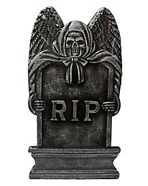 16 Inch Bronze RIP Tombstone - Decorations
