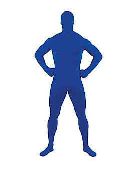 Adult Super Skins® Blue Zentai Skin Suit Costume