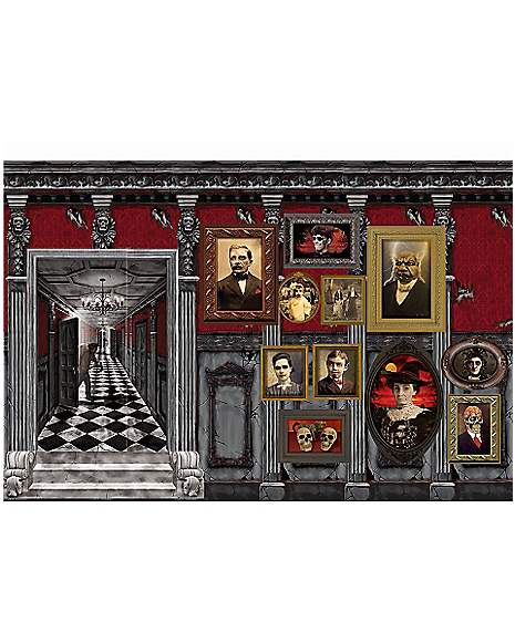 Spirit Halloween Wall Decor : Gothic mansion wall d?cor decorations spirithalloween