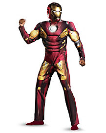 Iron Man Avengers Classic Muscle Adult Costume