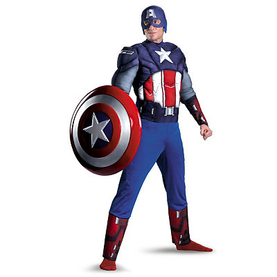 Captain America Avengers Classic Muscle Adult Costume
