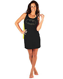 Batman Caped Sleep Tank Dress Womens Costume