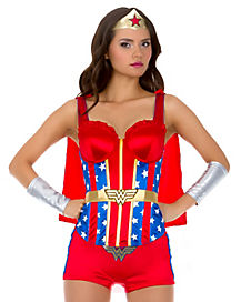 Wonder Woman Adult Womens Corset with Cape