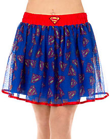 Superman Supergirl Adult Womens Petticoat