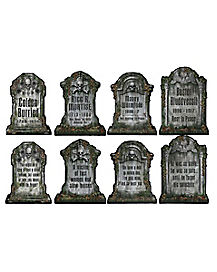 Tombstone Cutouts Paper Decorations