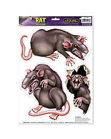Rats Peel 'n Place Wall Clings - Decorations