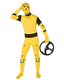 Super Skins® Crash Test Dummy Suit Adult Costume