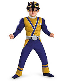 Toddler Muscle Gold Ranger Costume - Power Rangers Samurai