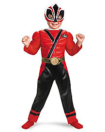Power Rangers Samurai Red Ranger Muscle Toddler Costume