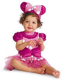Baby Pink Minnie Mouse Costume Deluxe - Disney