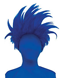 Dark Blue Spiked Wig