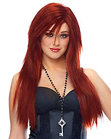Sleek Red Wig