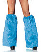 Furry Blue Leg Warmers