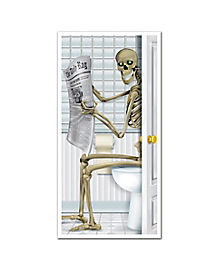Seated Skeleton Door Cover - Decorations
