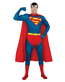 Adult Superman Skin Suit Costume - DC Comics