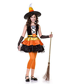 Kids Candy Corn Witch Costume