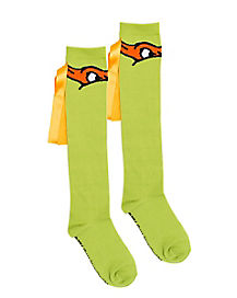 Teenage Mutant Ninja Turtles Green & Orange Socks