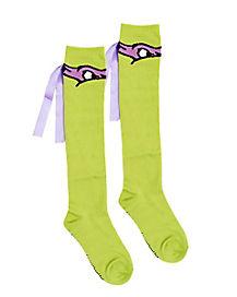 Teenage Mutant Ninja Turtles Green & Purple Socks