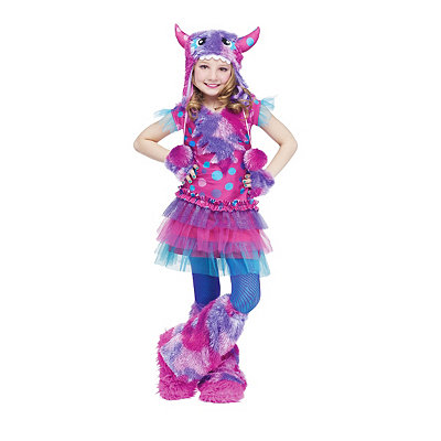 Dizzy Lizzie Purple and Pink Monster Child Costume