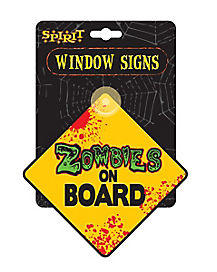 Zombies on Board Car Sign