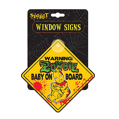 Zombie Baby on Board Sign