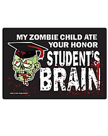 Eating Zombie Child Car Magnet