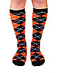 Orange & Black Argyle Socks