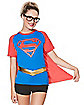 Caped Supergirl T Shirt - Superman