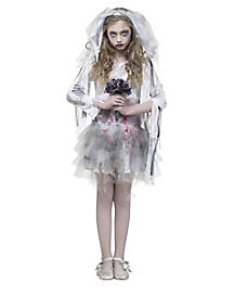 Zombie Bride Girls Costume