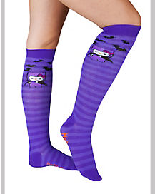 Hello Kitty Bat Adult Knee High Socks
