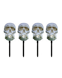 7.5 Inch Strobing Skull Head Lawnstakes