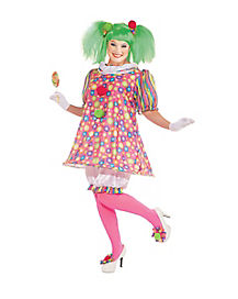 Adult Tickles the Clown Plus Size Costume