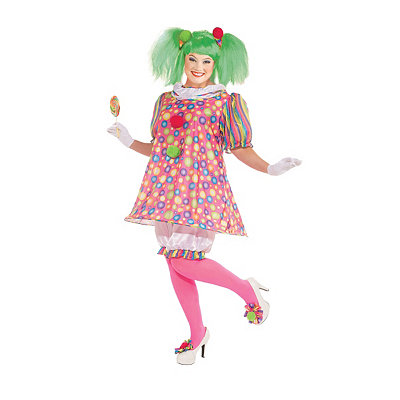 Tickles Clown Adult Womens Plus Size Costume