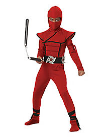 Kids Red Stealth Ninja Costume