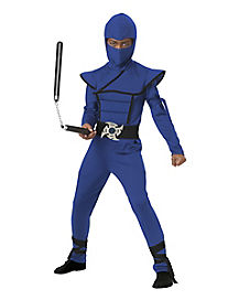 Kids Blue Stealth Ninja Costume
