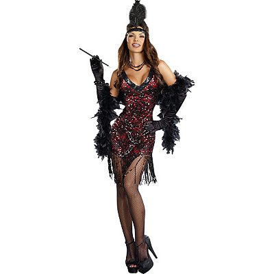 Vintage Inspired Halloween Costumes Adult Dames Like Us Flapper Costume $49.99 AT vintagedancer.com