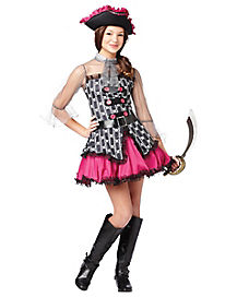 Skull Pirate Girls Costume