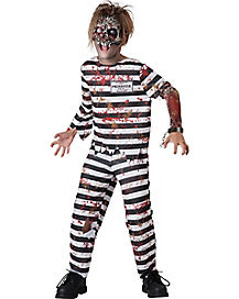 Kids Creepy Convict Zombie Costume