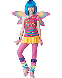 Kids Rainbow Fairy Costume