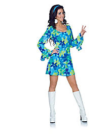 Hippie Wild Flower Adult Womens Costume