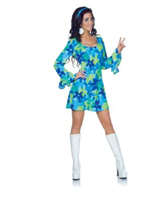 Adult Wild Flower Hippie Costume